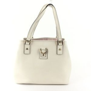 Gucci Abbey Vintage White Tote Leather